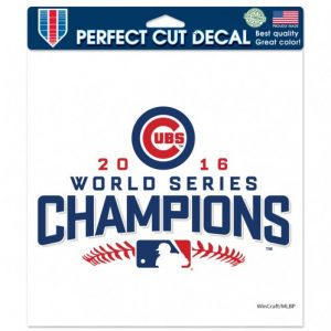 Cubs WS perfect cut decal