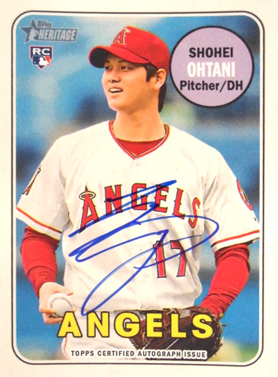 Shohei Ohtanis First Topps Autographed Card Will Be In Heritage