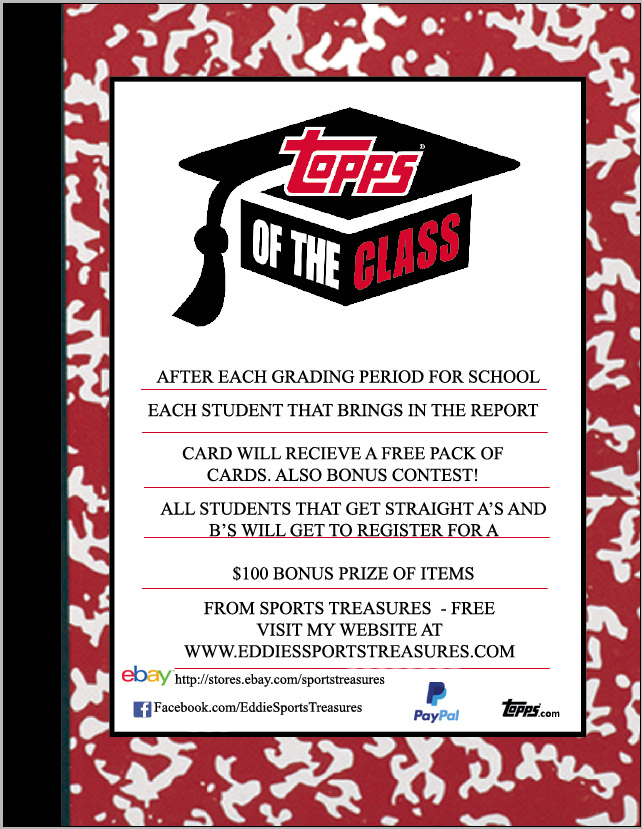 Topps of the Class Flyer