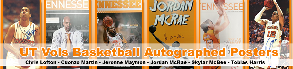 UT Vols Basketball Autographed Posters
