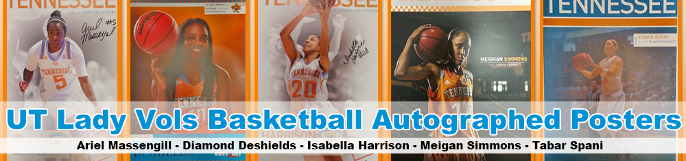 UT Lady Vols Basketball Autographed Posters
