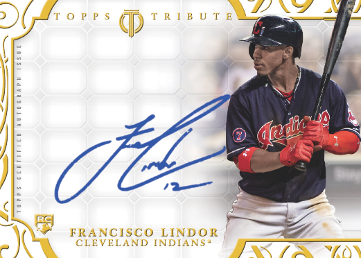 Francisco Lindor Named 2015 Topps Tribute Mystery Autograph